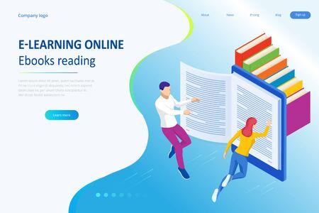 Isometric concept for Digital Reading