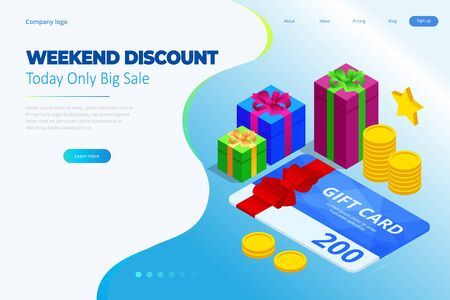 Weekend Sale and Discount Offers. Online shopping.