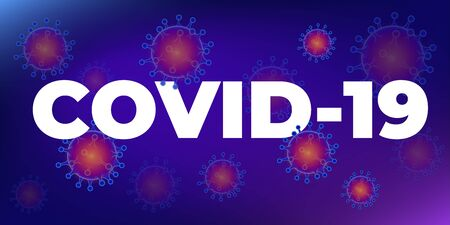 Coronavirus disease COVID-19 infection medical. Coronavirus 2019-nC0V Outbreak, Travel Alert concept. The virus attacks the respiratory tract, pandemic medical health risk. Vettoriali
