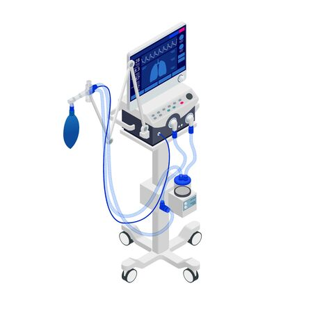 Isometric Ventilator Medical Machine designed to provide mechanical ventilation by moving breathable air into and out of the lungs and for anesthesia of the patient.