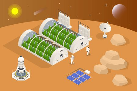 Isometric Mars Colonization, Biological terraforming, Paraterraforming, Adapting humans on Mars. Astronautics and space technology. Geo capsyles.