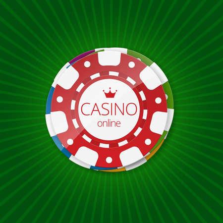 Online casino banner. Online Casino Gambling Concept.