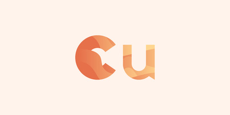Copper Cu modern chemical element, great design for any purposes. Science research concept. Vector illustration with chemical element for concept design. Education concept.