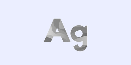 Argentum Silver Ag modern chemical element, great design for any purposes. Science research concept. Vector illustration with chemical element for concept design. Education concept.