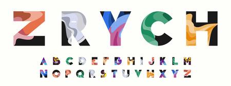 ZRYCH Colorful Wavy Alphabet