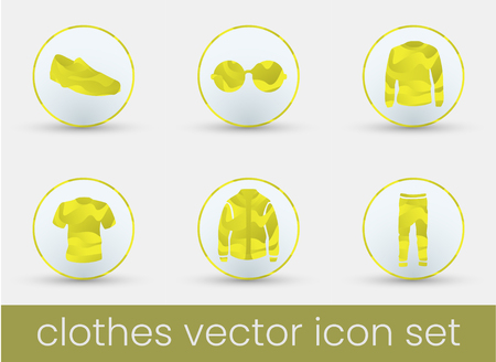 Clothes icon set, great design for any purposes. Fashion icons set.