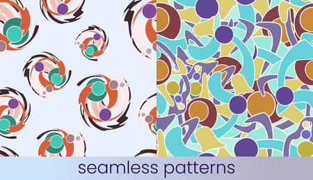 Abstract colour seamless pattern set Stok Fotoğraf - 122669099