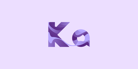 Ka Kalium Potassium modern chemical element, great design for any purposes. Science research concept. Vector illustration with chemical element for concept design. Education concept. Stok Fotoğraf - 124487288