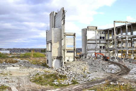 Demolition and dismantling of the remnants of the large industrial enterprise.
