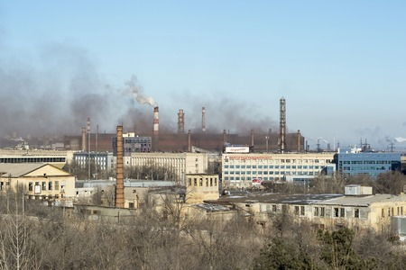 View of the industrial district, Russia, Volgograd