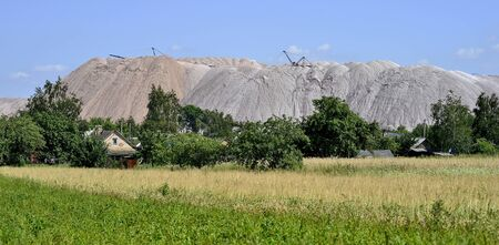 A small village at the foot of a salt mine.
