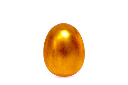 golden egg, concept of Making Money on a white background