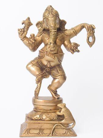 divinity: Ganesha brass statue