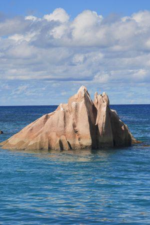 granite rock of saint pierre island in seychelles islands indian ocean
