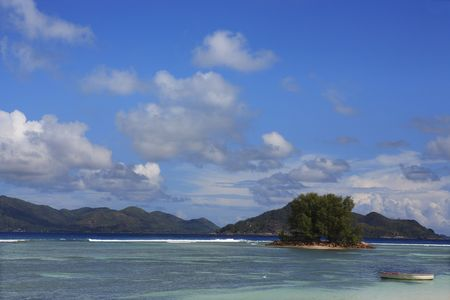 anse source d'argent in la digue in seychelles island Banque d'images - 121743188