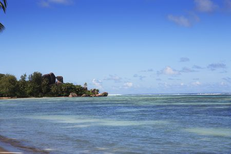 anse source d'argent in la digue in seychelles island Banque d'images - 121743189
