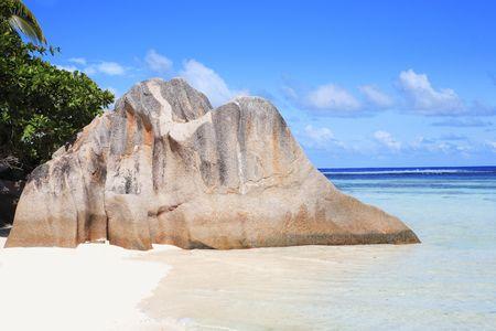 anse source dargent in la digue in seychelles island Zdjęcie Seryjne