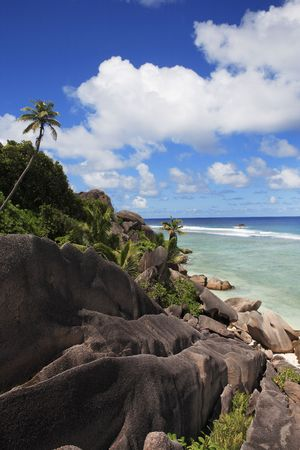 anse source dargent beach in la digue in seychelles island Stock fotó