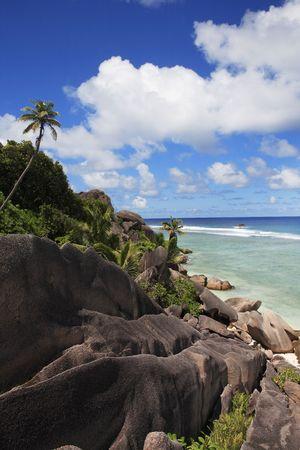 Anse source d'argent plage à la digue aux seychelles