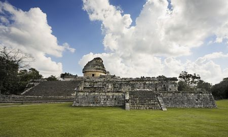 El Caracol  observatory Chichen Itza in the yucatan was a Maya city and one of the greatest religious center and remains today one of the most visited archeological sites