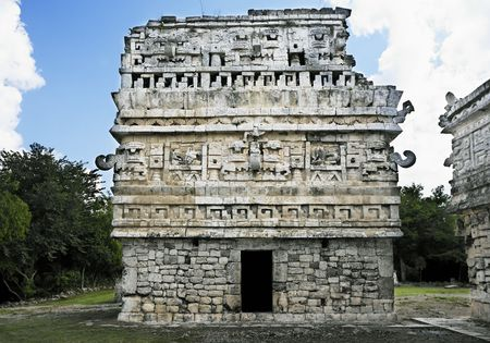 Chichen Itza in the yucatan was a Maya city and one of the greatest religious center and remains today one of the most visited archeological sites Reklamní fotografie - 121743257
