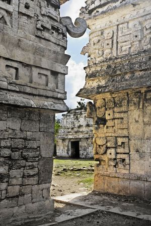 Chichen Itza in the yucatan was a Maya city and one of the greatest religious center and remains today one of the most visited archeological sites 스톡 콘텐츠 - 121743258