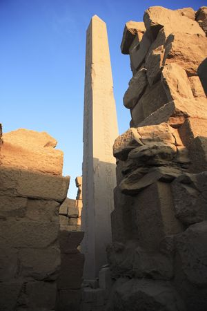 view of the Karnak temple with the Obelisk in luxor upper egypt