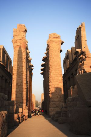 view of the Karnak temple in luxor upper egypt 写真素材