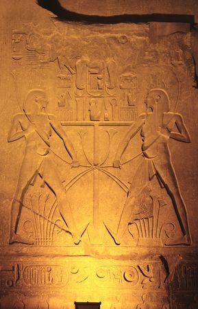widok świątyni w luksorze nocą w górnym egipcie Zdjęcie Seryjne