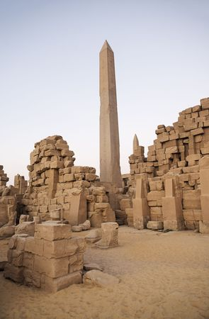 obelisk of the karnak temple in luxor upper egypt