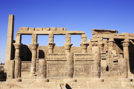 view of the Philae temple in aswan upper egypt Stockfoto - 121743454