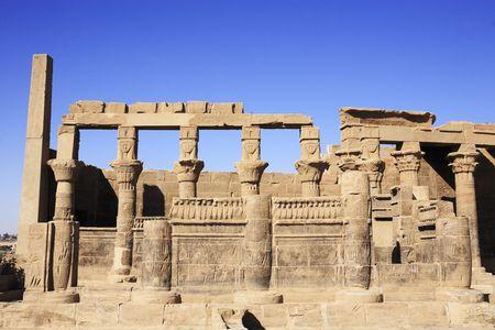 Vista del templo de Filae en el Alto Egipto de Asuán