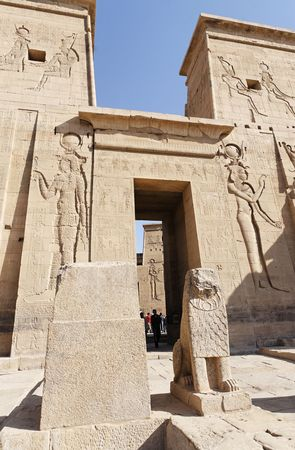 view of the Philae temple in aswan upper egypt Foto de archivo - 121743455