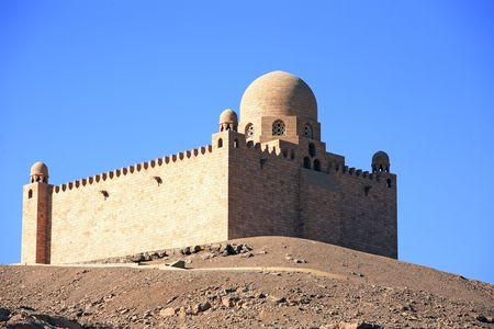 Aga Khan tomb near aswan in egypt Banco de Imagens