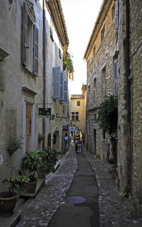 view of the typical south east of france old stone village of saint paul de vence on the french riviera refuge of many artist,painters,sculptors 版權商用圖片