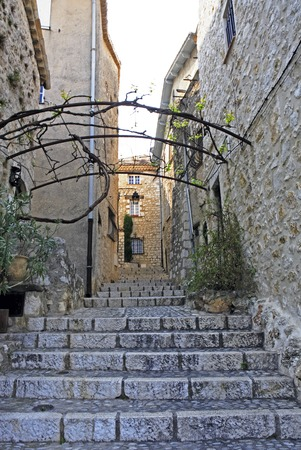 view of the typical south east of france old stone village of saint paul de vence on the french riviera refuge of many artist,painters,sculptors Banco de Imagens
