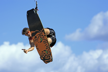 young and talented kitesurfer in brazil tatajuba, Jericoacoara,ceara