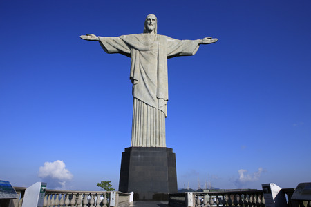 corcovado christ redeemer in de janeiro brazil Stock Photo - 121743631