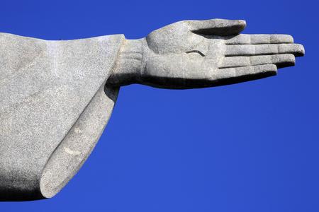 corcovado christus verlosser in de janeiro brazilië Stockfoto