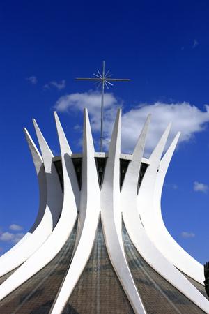 cathedral of brasilia city capital of brazil Фото со стока