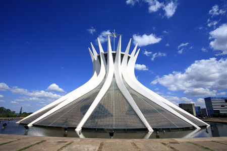 cathedral of brasilia city capital of brazil 免版税图像