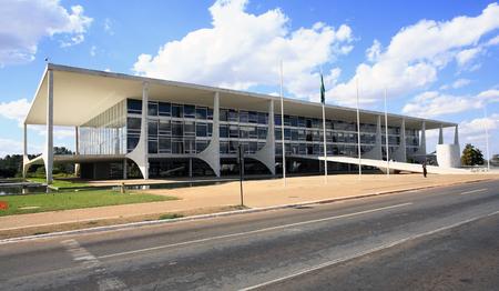 """the """"Alvorada"""" palace residence of the president of brazil in brasilia Stock Photo"""