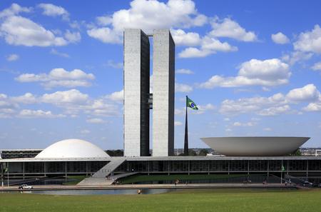 Il Congresso Nazionale del Brasile a Brasilia, città capitale del Brasile
