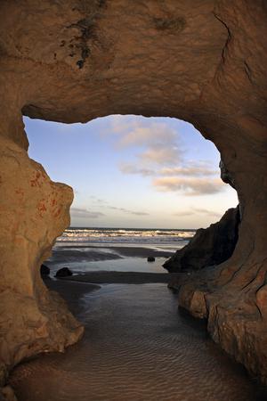 view of Praia das fontes the springs beach between morro branco and beberibe near fortaleza ceara state brazil