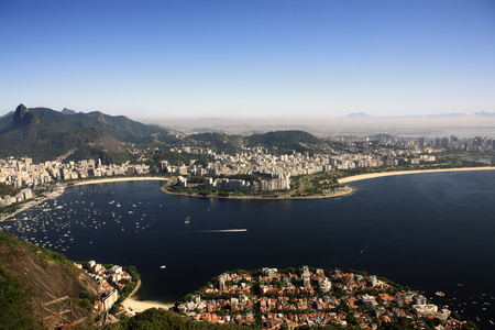aerial view of botafogo from the sugar loaf in de janeiro brazil