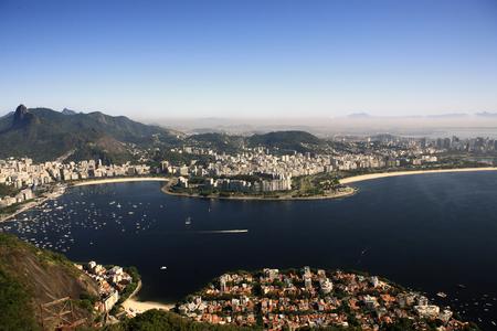 luftaufnahme von botafogo vom zuckerhut in de janeiro brasilien