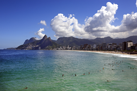 beautiful ipanema Leblon beach in de janeiro brazil