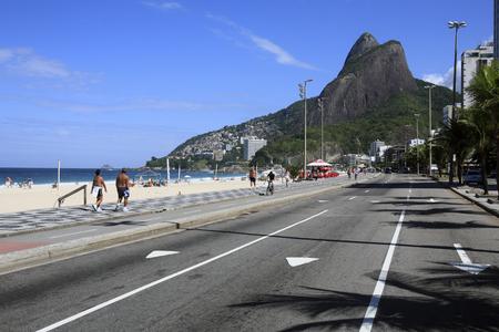 Vista della spiaggia di Leblon a de janeiro brasile