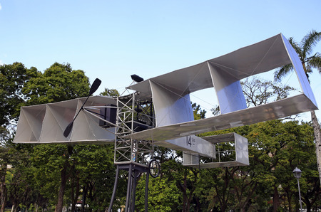 alberto santos dumont first plane to fly expose ancient imperial city of petropolis in rio de janeiro state in brazil