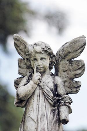 angel statue in the beautiful island of ilha grande near de janeiro in brazil